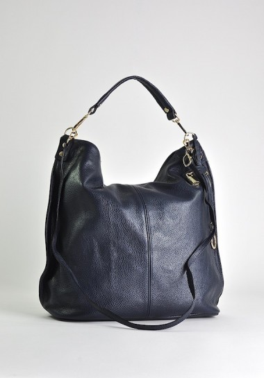 Granatowa torba damska ze...