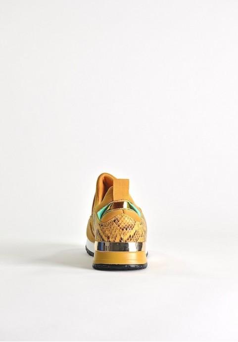 Żółte buty sportowe Snake