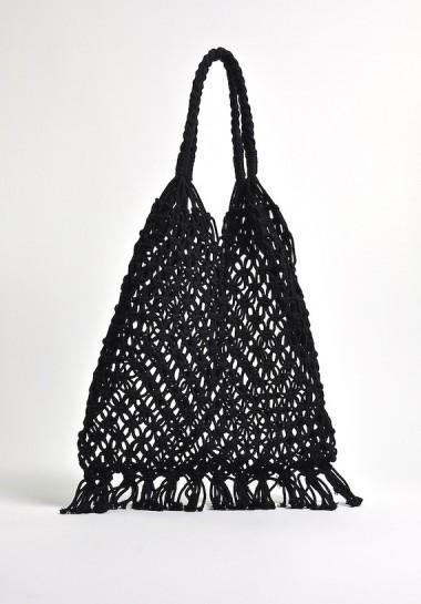 czarna pleciona torebka