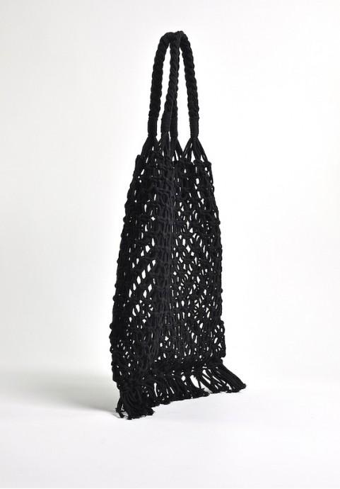 czarna torebka siatka