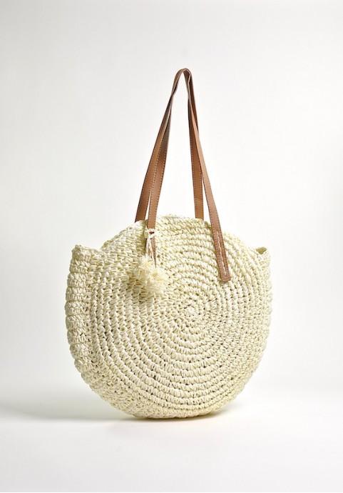 Pleciona torba plażowa na ramię