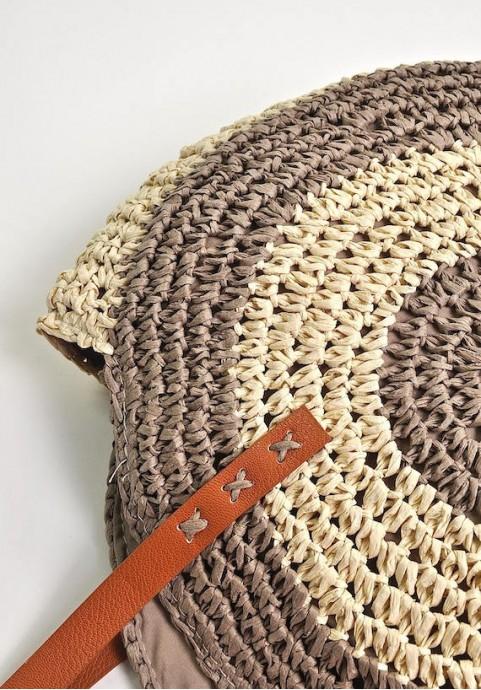 Duża pleciona torba na lato