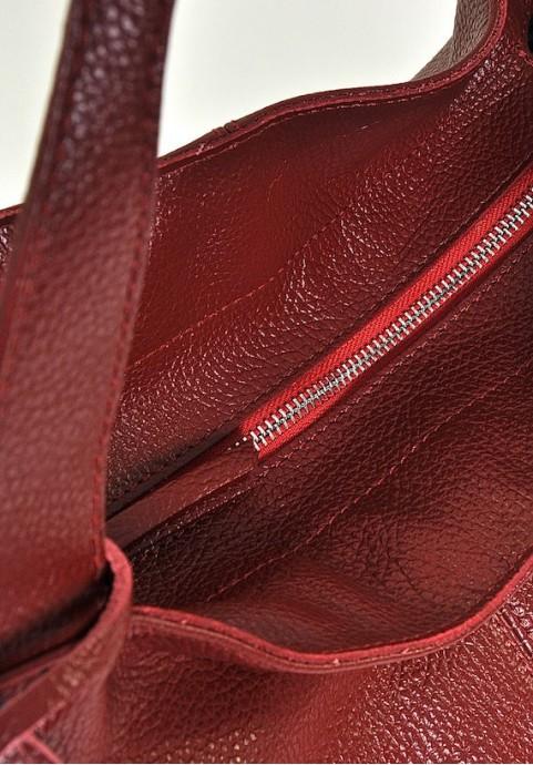 Czerwona torebka na ramię worek