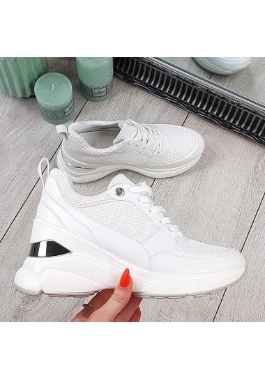 Białe sneakersy lekkie z...