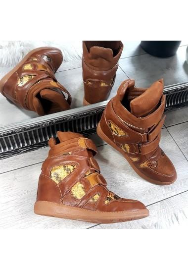 Brązowy sneakersy adidasy