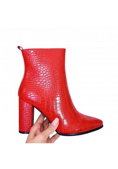 Eleganckie czerwone botki...