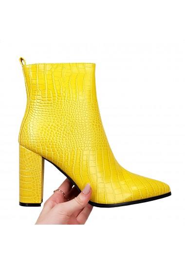 Eleganckie żółte botki na...