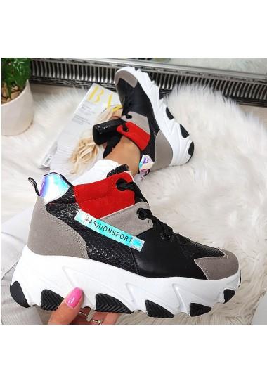 Kolorowe sneakersy szare...