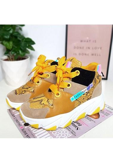 Kolorowe sneakersy żółte...