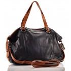 Elegancka torebka skórzana czarna