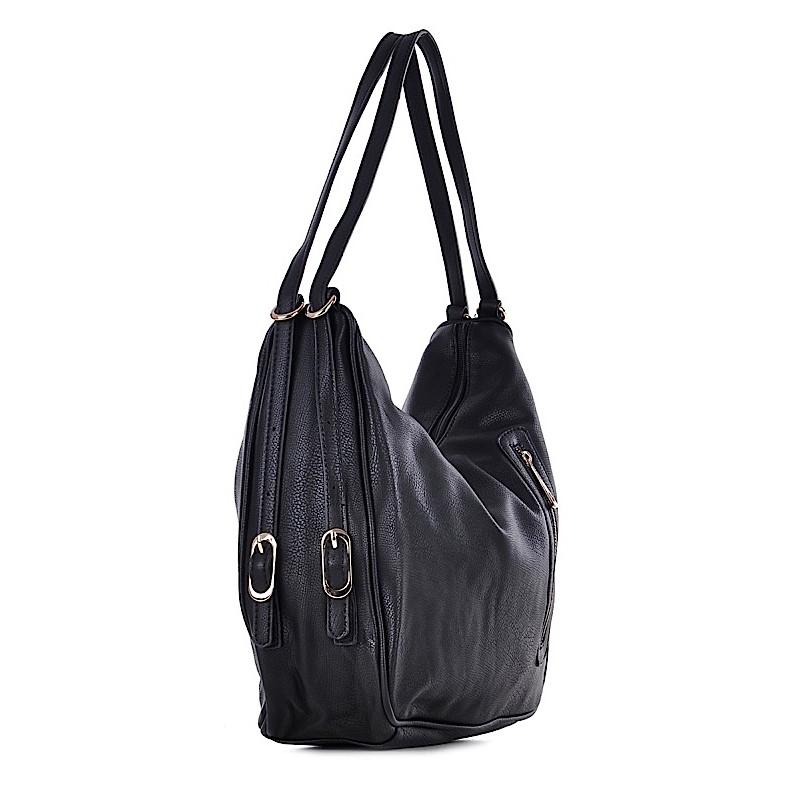0242914055d33 Torebka damska plecak czarna ze skóry ekologicznej. MEGAN. -30%. 1 3.  MEGAN  MEGAN  MEGAN