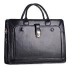 Biznesowa torba ze skóry czarna na laptopa
