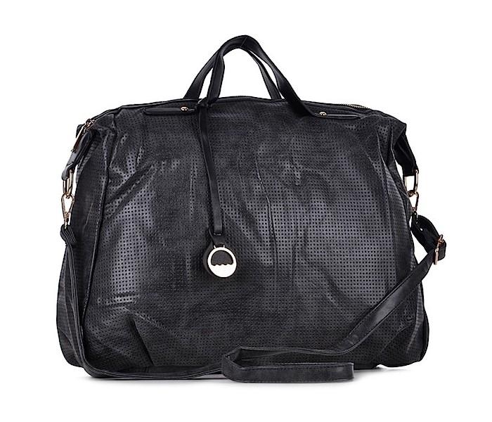 758f354144f56 Czarna sportowa torba damska z eko skóry