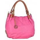 Duża torebka damska worek różowa