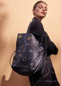 duża torebka damska na ramię shopper w kolorze czarnym