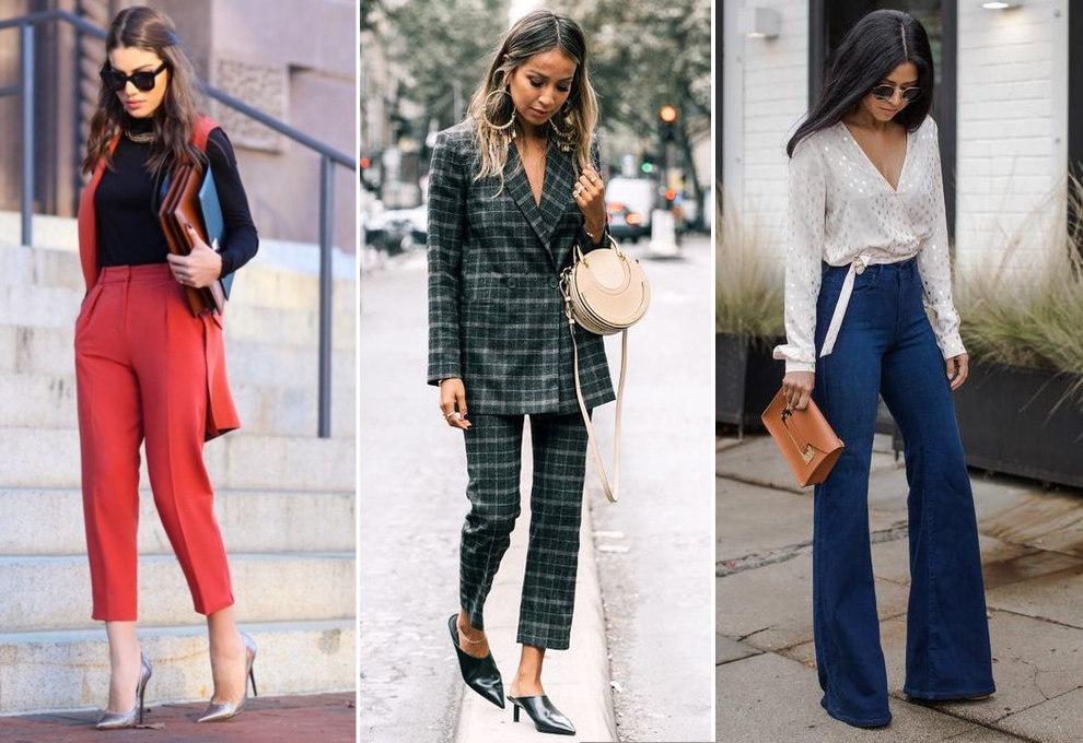 stylizacje ze spodniami dla niskich pań