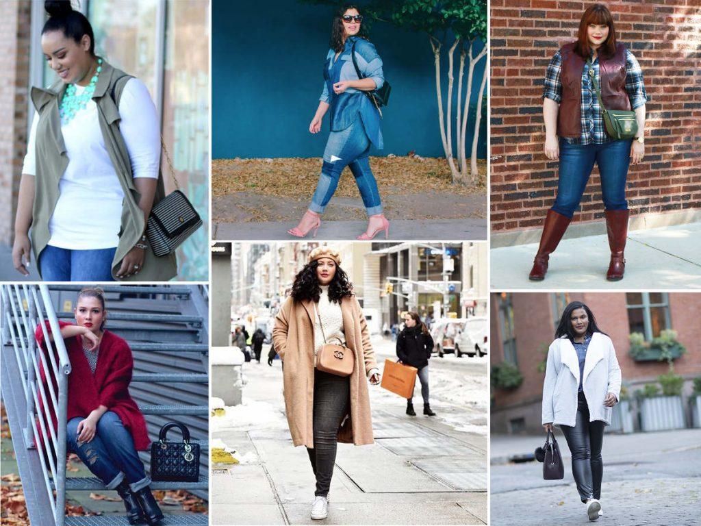 torebka, która pasuje do rozmiaru XL czy XXL. Zestaw listonoszka i miodowy płaszcz dla pani o obfitych kształtach. Stylizacje z modnymi torebkami