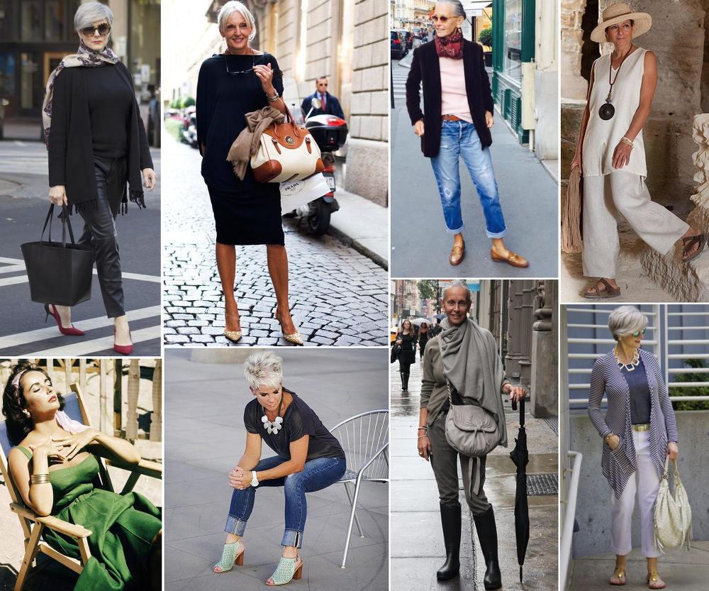 eleganckie stylizacje dla starszych kobiet