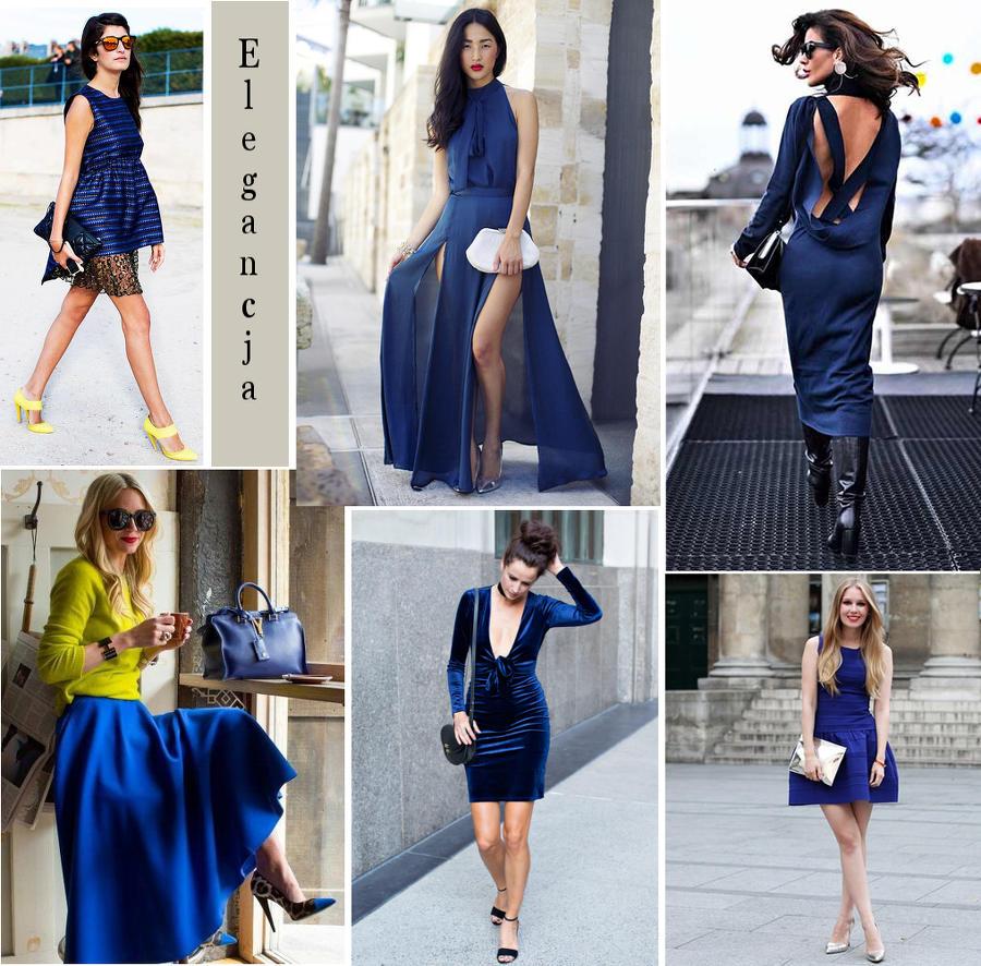 eleganckie granatowe sukienki w zestawach ze stylowymi torebkami i modnymi butami