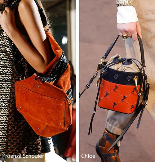 czerwone torebki damskie ze skóry projekty Proenza Schouler i Chloe z pokazów mody 2019 trendy