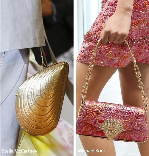 torebki damskie na lato w kształcie muszli projektanci Stella McCartney i Michael Kors