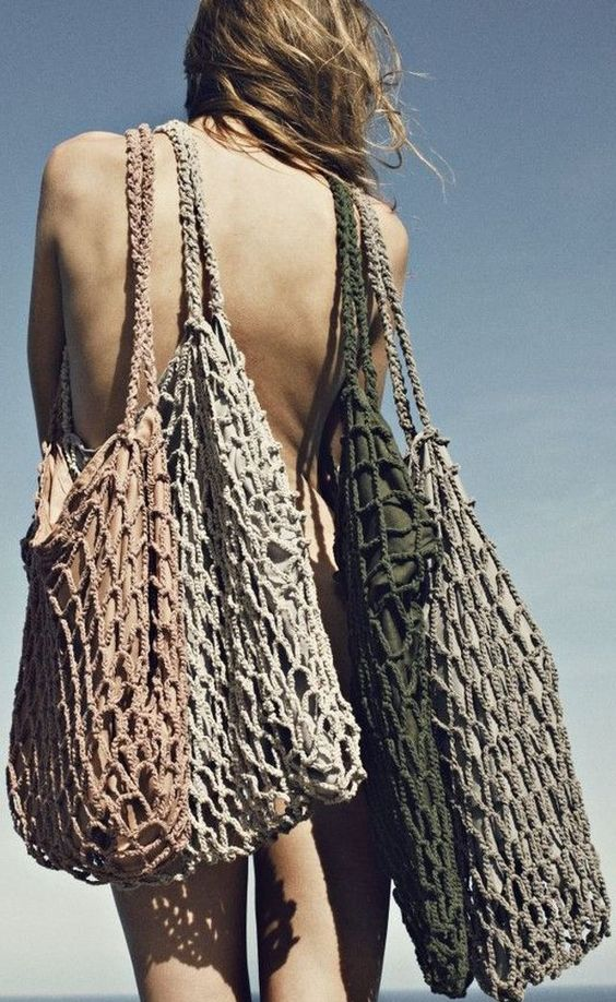 torebka siatka modna torebka na lato w różnych kolorach