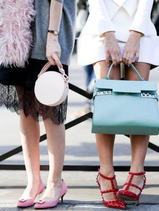Torebki skórzane miejskie i buty damskie - street fashion w pigułce.