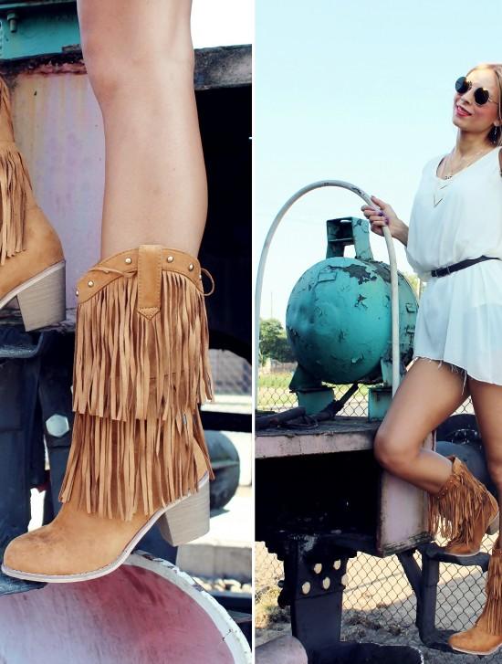 Zestaw w stylu country z folkowymi kowbojkami!